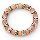 橘色猫眼石手链 单圈圆珠弹力线款