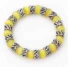 黄色猫眼石手链 单圈圆珠弹力线款
