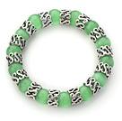 果绿色猫眼石手链 单圈圆珠弹力线款