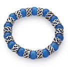 深蓝色猫眼石手链 单圈圆珠弹力线款