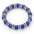 宝石蓝猫眼石手链 单圈圆珠弹力线款