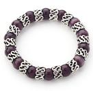 紫色猫眼石手链 单圈圆珠弹力线款