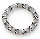 灰色猫眼石手链 单圈圆珠弹力线款
