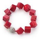 珊瑚立体方块手链