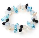 水晶蛋白石心连心手链