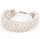 白色珍珠编织手镯