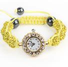 柠檬黄钻球手表手链