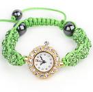 苹果绿钻球手表手链