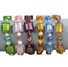 6条水晶珍珠琉璃手链(颜色随机)