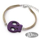 紫色松石骷髅头手链 10个