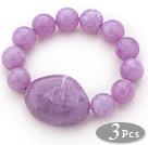 紫色亚克力弹力手链 3个