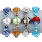 4条水晶珍珠琉璃手链(颜色随机)