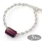 紫玛瑙手链 单层编织绳款 5件装