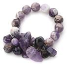 紫水晶弹力手环