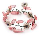 珍珠西瓜水晶手链