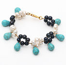 珍珠绿松石手链
