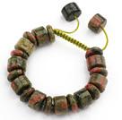花绿石手链手环 长度可调节 单层编织绳款