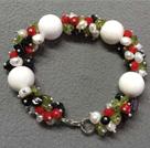 白珍珠砗磲橄榄石手链
