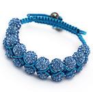 藏蓝水钻球手链 手环 可调节 配蓝绳 (普彩)