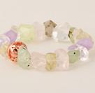 冲角葡萄石 白水晶紫水晶粉晶手链 简约单层款
