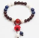 青金石石榴石砗磲佛珠手链