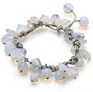 蛋白水晶皮绳手链