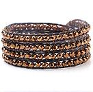 人造水晶 蜡绳手链 缠绕式四圈款
