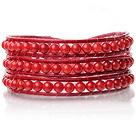 珊瑚皮绳手链 缠绕式三圈款