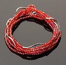 红色迷你细细水晶多层手链