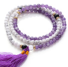 紫水晶 白松石手链 项链 两用链 多圈流苏款