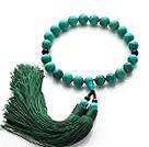 绿松石黑玛瑙手链 手持佛珠流苏款