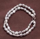 双层灰色巴洛克珍珠手链