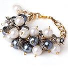 亚克力珍珠金属手链 时尚链款