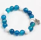 蓝玛瑙白瓷石手链
