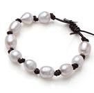 10-11mm白珍珠皮绳手链