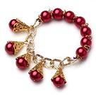 玻璃珍珠手链 配合金链 100条起卖