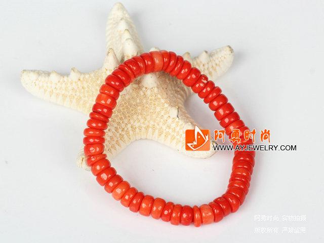 珊瑚算盘珠弹力手链