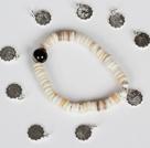 12星座松石贝壳虎眼石天眼玛瑙手链(12条一套)