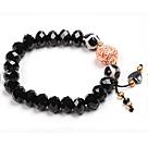 黑水晶玛瑙手链