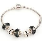 时尚灰色欧洲珠串珠手链