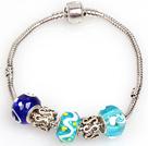 时尚蓝色系列欧洲珠串珠手链