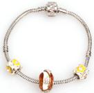 时尚黄色欧洲珠简约串珠手链
