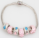 时尚粉色欧洲珠串珠手链