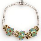 时尚绿色欧洲珠串珠手链