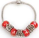 时尚红色欧洲珠串珠手链