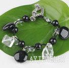 白水晶黑玛瑙手链