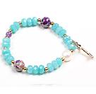 蓝玉珍珠帝皇石手链