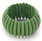 绿色松石弹力手链 手排款