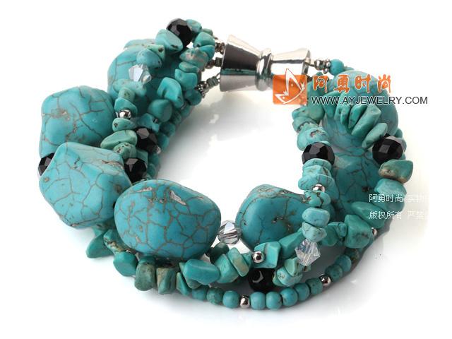 松石水晶手链