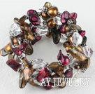 牙齿珍珠水晶手环